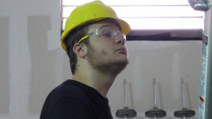 Connor in hard hat