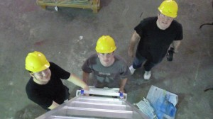 Connor, Ian, and Dan at work